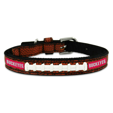 Ohio State Buckeyes Classic Leather Toy Football Collar