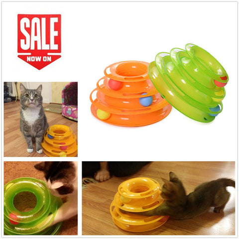 Dougez Plastic Cat Three Disc Toy