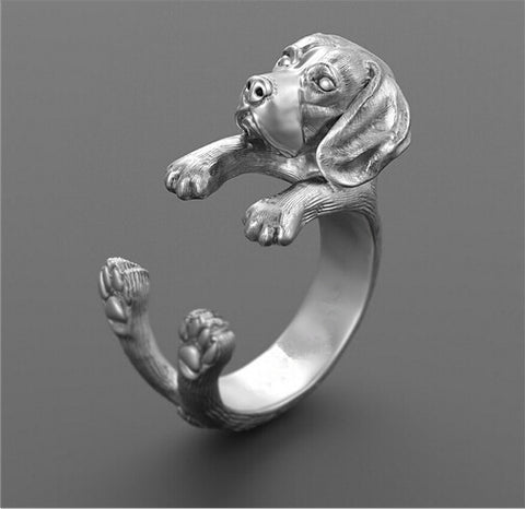 Beagle Lovers Unique Handmade Ring for Male or Female Pet Lovers  (3 Colors to Choose From)