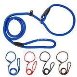 Nylon Chain Rope Dog Pet  Collar & Leash (0.6cm * 120 cm Black/ Blue /Red)