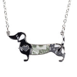Dachshund Lovers Metal Alloy Enamel Necklace & Pendant