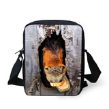 Rottweiler Pattern Messenger Bag (Other Breeds or Animal Patterns available also)