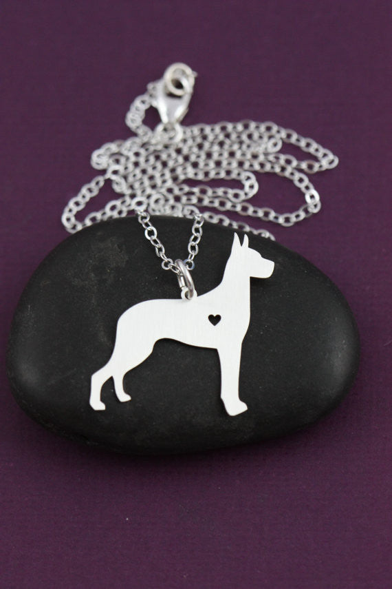 Great Dane Lovers Necklace & Pendant