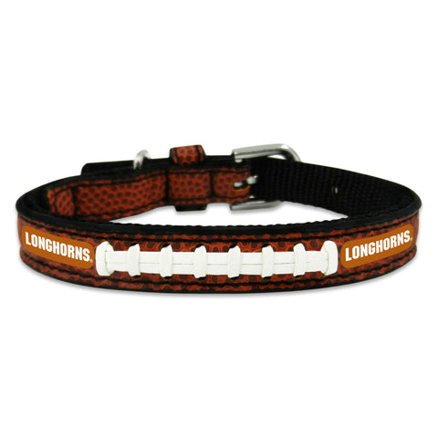Texas Longhorns Classic Leather Toy Football Collar