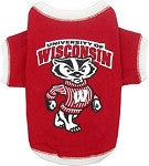 Wisconsin Badgers Pet T-Shirt