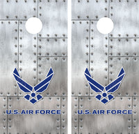 Air Force Riveted Metal Cornhole Wraps