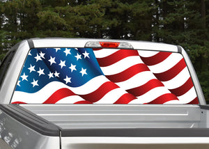 American Flag #3 Rear Window Decal