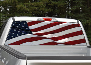 American Flag #6 Rear Window Decal