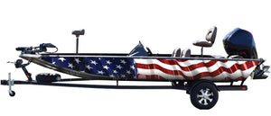 American Flag Boat Wrap Kit