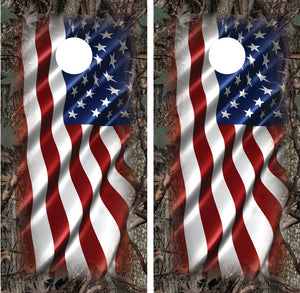 "American Flag Camo ""Oak Ambush"" Border"