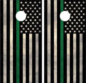 "American Flag ""Thin Green Line"""