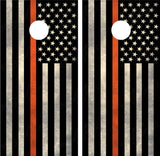 "American Flag ""Thin Orange Line"" EMS"