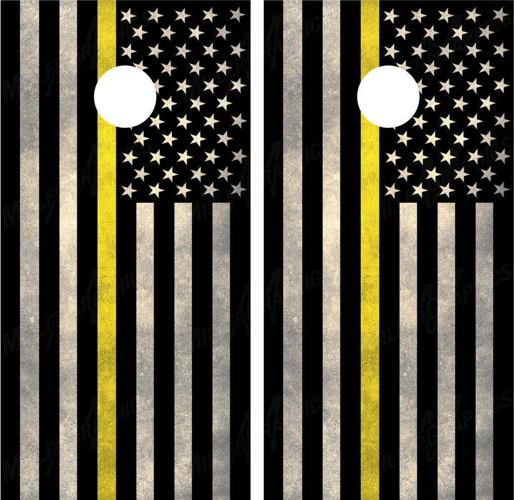 "American Flag ""Thin Yellow Line"""