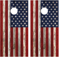 American Flag Distressed Wood