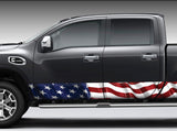 American Flag Rocker Panel Decal Kit