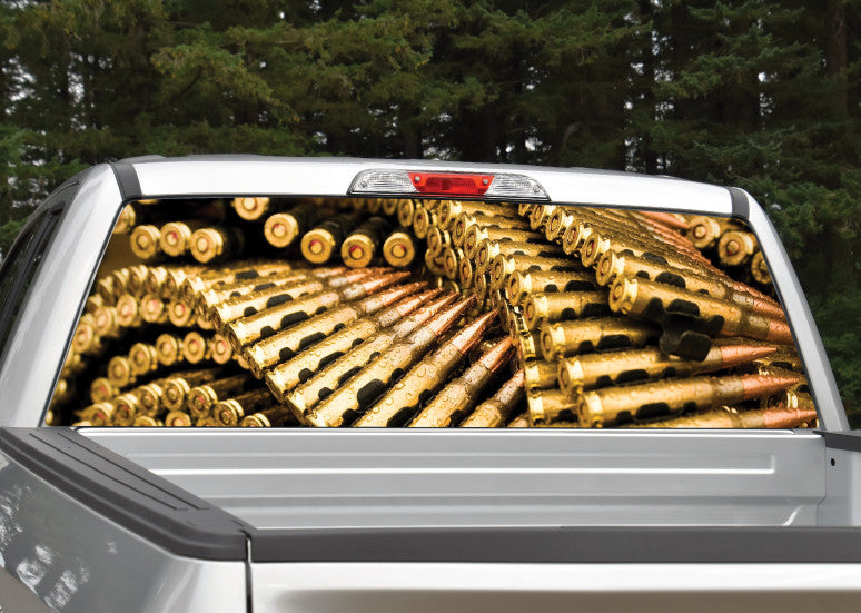Ammunition Bullets Rear Window Decal