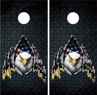 Bald Eagle Ripped Metal #2 Diamond Plate