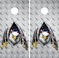 Bald Eagle Ripped Metal Diamond Plate