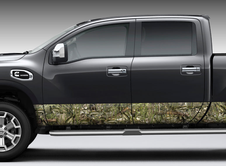 "Camo ""Bass Camo"" Rocker Panel Decal Kit"