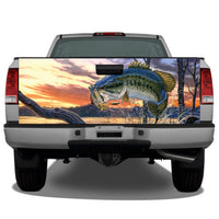 Bass Jumping Tailgate Wrap