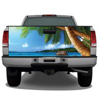 Beach Ocean Palm Trees Tailgate Wrap
