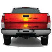 Beach Ocean Sunset #4 Tailgate Wrap