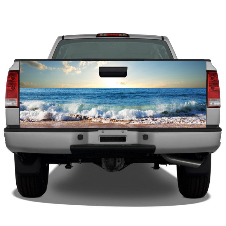 Beach Ocean Waves Tailgate Wrap