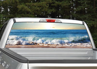 Beach Ocean Waves Rear Window Decal
