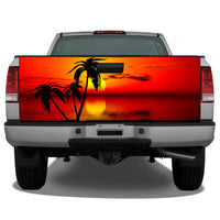 Beach Palm Tree #9 Tropical Sunset Tailgate Wrap