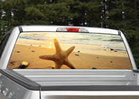 Beach Scene Starfish Rear Window Decal