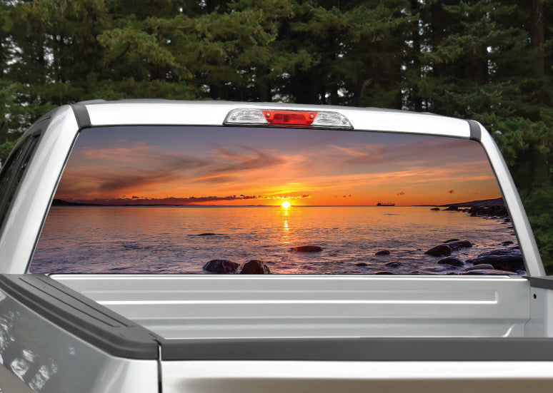 Beach Ocean Sunset #4 Rear Window Decal