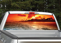 Beach Sunset #5 Rear Window Decal