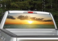 Beach Sunset #6 Rear Window Decal