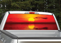 Beach Sunset #7 Rear Window Decal