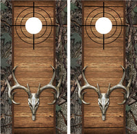 Buck Deer Skull Camo Wood Cross Heirs