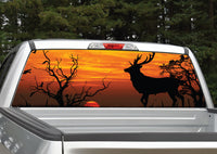 Buck Deer Sunset #4 Rear Window Decal