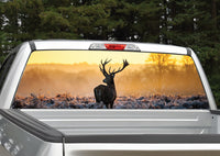 Buck Deer Sunset Rear Window Decal