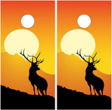 Elk Buck Silhouette Sunset