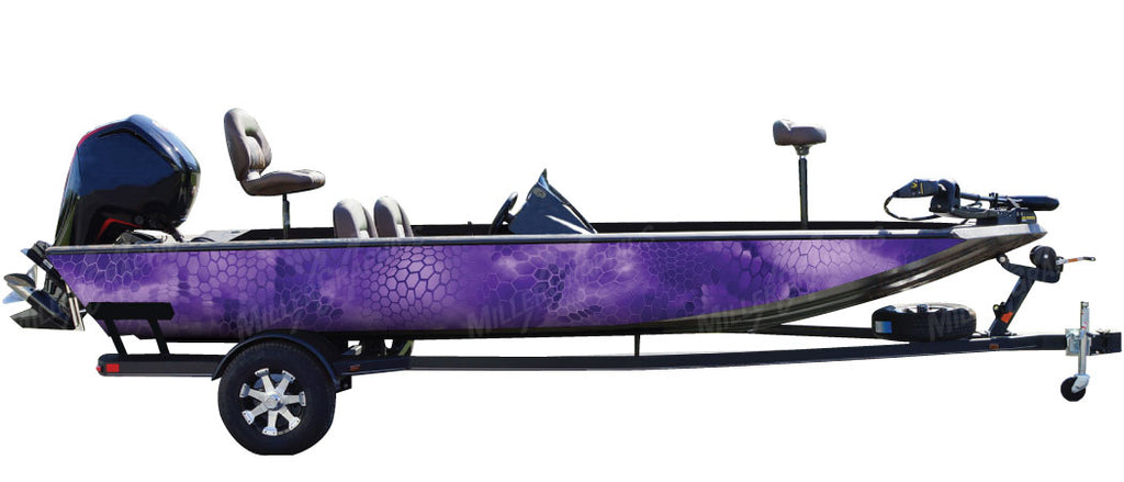 Chameleon Purple Camo Boat Wrap Kit