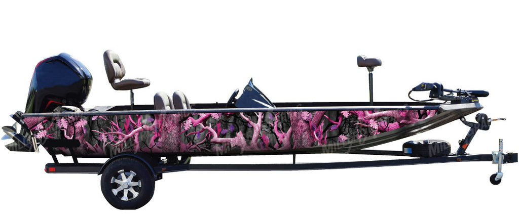 """Obliteration Pink"" Camo Boat Wrap Kit"