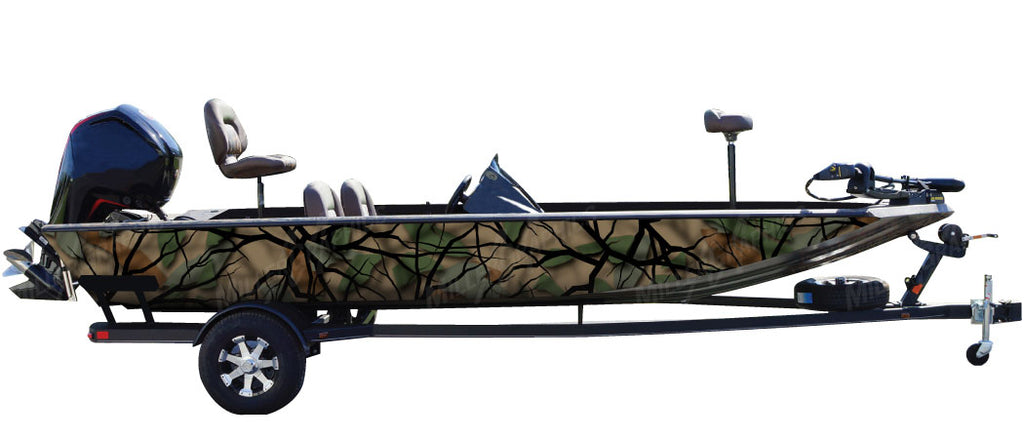 """Savage Green"" Camo Boat Wrap Kit"