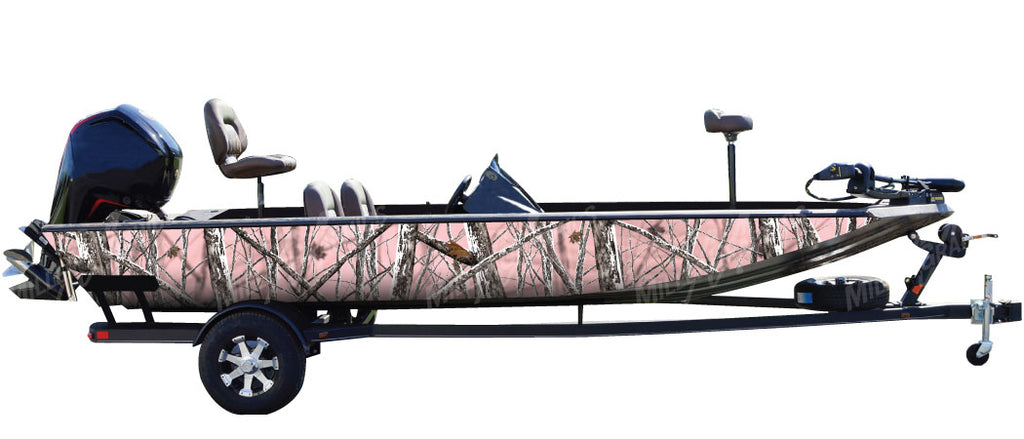 """Snowstorm Pink"" Camo Boat Wrap Kit"
