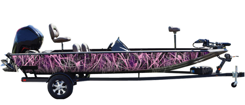 """Tall Grass Pink"" Camo Boat Wrap Kit"