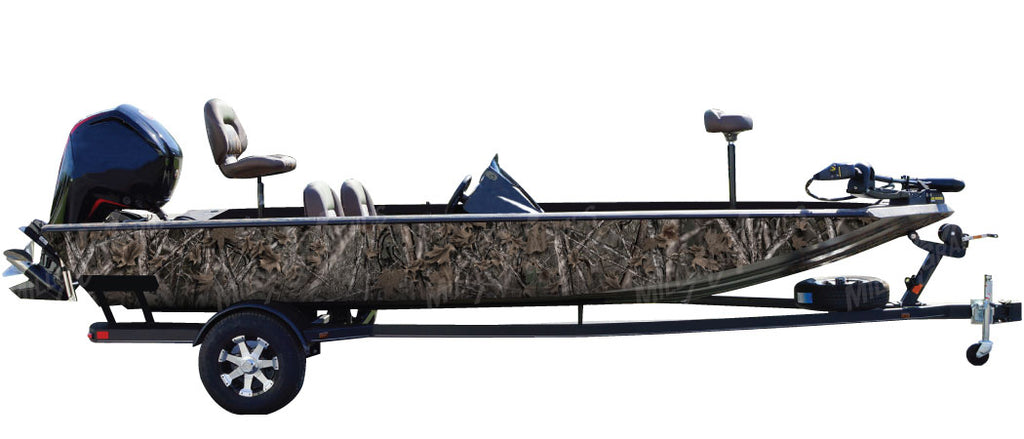 """Woodland Ghost"" Camo Boat Wrap Kit"