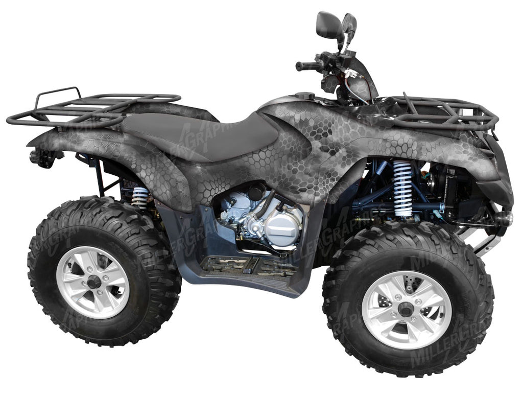Chameleon Grey Camo ATV Wrap Kit