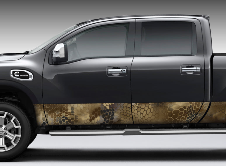 "Camo ""Chameleon Desert"" Rocker Panel Decal Kit"
