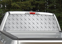Diamond Plate (Silver) Rear Window Decal