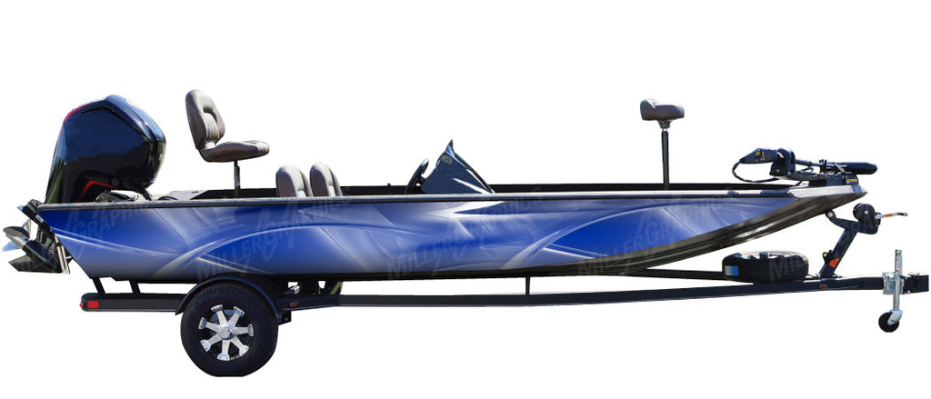 Drifter (Blue) Boat Wrap Kit