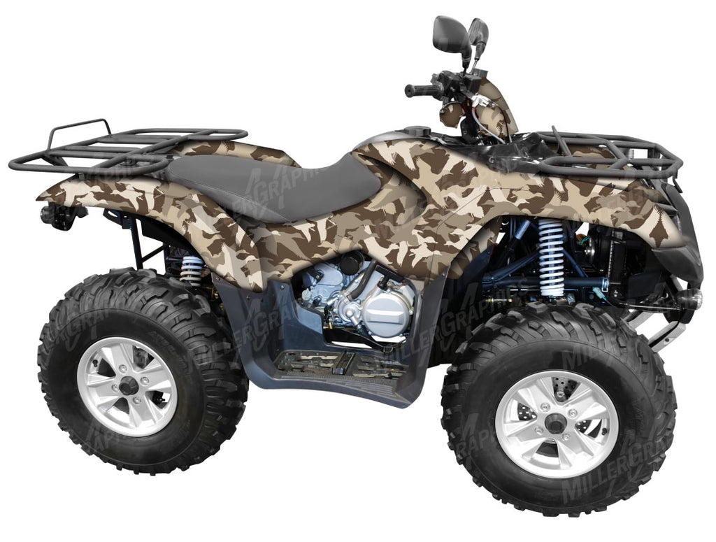 Duck Silhouette Camo ATV Wrap Kit
