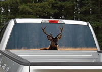 Lone Elk Rear Window Decal